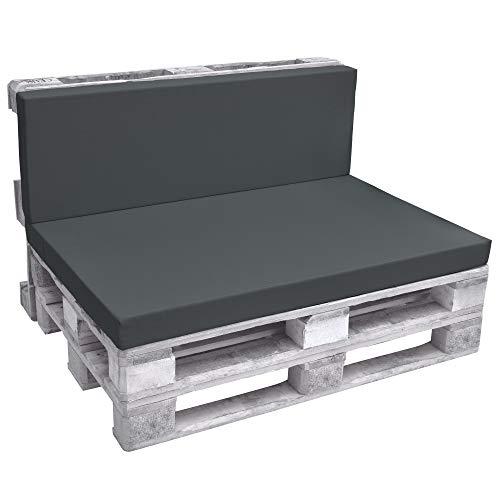 Beautissu Cuscino spalliera per divani con bancali - Eco Pure 120x40x8cm - per divanetti e panche da...