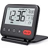NOKLEAD Digital Travel Alarm Clock – Mini Portable LCD Display Clock with Backlight Calendar...