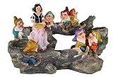Design Schneewittchen mit 7 Zwerge 13020 Zwerg 32 cm Hoch Deko Garten Gartenzwerg Figuren Dekoration verschiedene Design