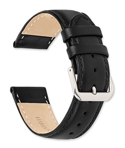 deBeer Coach Leather Watch Band - Black 20mm