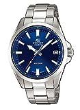 Casio EDIFICE Reloj en caja sólida, 10 BAR, Azul, para Hombre, con Correa de Acero inoxidable,...