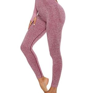 KIWI RATA Women's High Waist Workout Compression Seamless Fitness Yoga Leggings Butt Lift Active Tights Stretch Pants 42