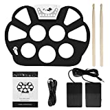 Electronic Drum Sets Portable Roll Up Drum Pad Kit Silicon Foldable with Stick Record Function