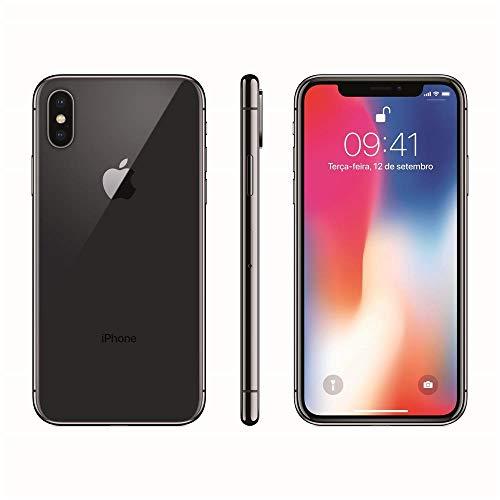 Iphone X Apple 64GB Cinza Espacial Tela Super Retina Hd Oled 5.8 iOS 11 Câmeras De 12MP Mqac2Bz/A