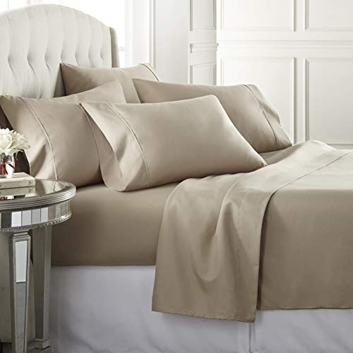 Danjor Linens Twin - 1800 Series 4 Piece Bedding Sheet & Pillowcases Sets w/ Deep Pockets - Fad…