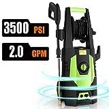 CHAKOR Pressure Washer 3500 PSI, 2.0GPM Power Washer Machine, 1800W High Pressure Cleaner with 4 Adjustable Nozzle, Spray Gun, Hose Reel, Brush