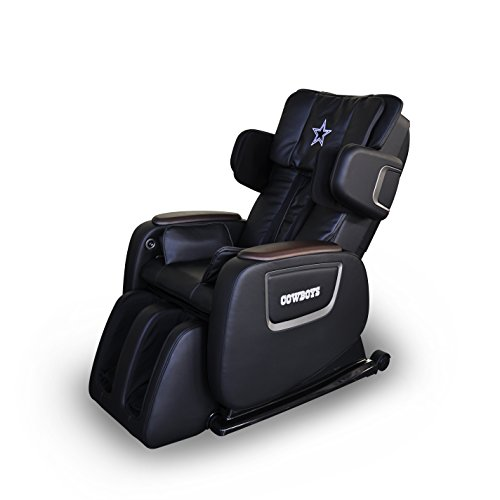 BestMassage Full Body Zero Gravity Shiatsu Massage Chair Recliner w/Heat and Long Rail PS4(NFL Chair DAL)