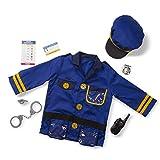 Melissa & Doug Police Officer Role Play Costume Dress-Up Set (8 pcs) Blue, 17.5' x 24' x 0.75'...