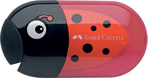 Faber-Castell 183526 - Doppelspitzdose Käfer Inklusiv Radierer