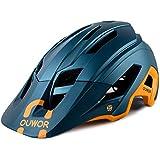 Mountain Bike MTB Helmet, CPSC Certified, Removable Visor, for Adult Men Women Youth (Blackish...