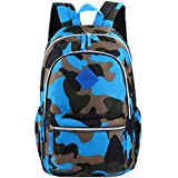 VBIGER Girl's & Boy's Backpack for Middle School Cute Bookbag Outdoor Daypack (Blue(camouflage))