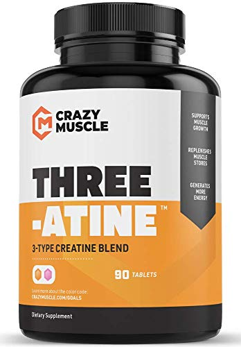 Creatine Pills - Keto Friendly Muscle Builder - 1,667 mg Tablets (100% + More Than Capsules) - Over 5000mg (5 Grams) of Creatine Monohydrate, Pyruvate + AKG - Optimum Strength Bodybuilding Supplements