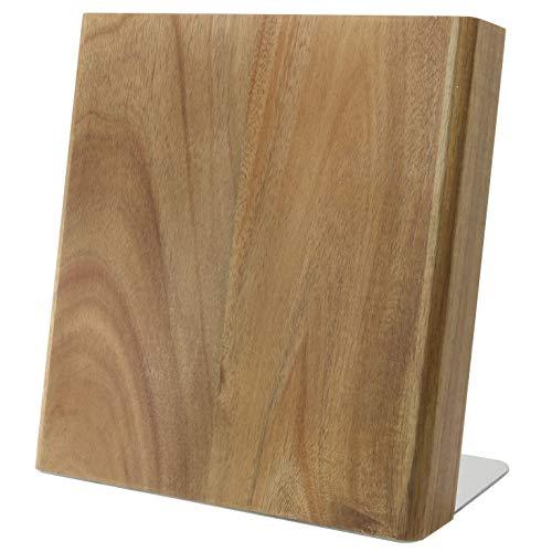 Coninx Quin Magnetischer Messerblock Acacia/Akazie Holz | Messerblock Magnetisch Ohne Messer | Akazienholz | Messerhalter Magnet für eine organisierte und aufgeräumte Küche