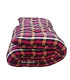 AnuAshi (3x6) Soft Cotton Tuffed Multicolor Heavy Mattress/gadda 72x36x5