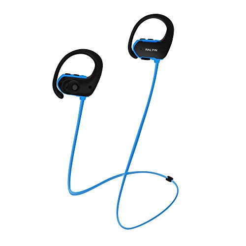 MP3 Headphones Built in 8GB TF Card Memory Storage,Ralyin Bluetooth Earbuds with Microphone Wireless Headphones for Working Sport Audifonos Sweatproof Cordless Earphones w mic Headset Audiobook (blue)