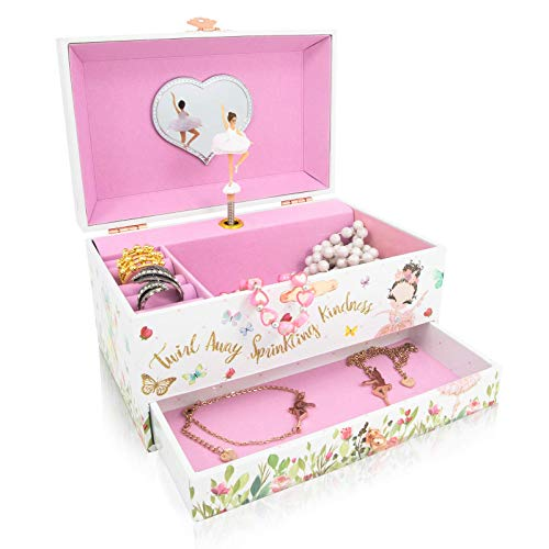 Product Image 1: The Memory Building Company Musical Ballerina Jewelry Box for Girls & Little Girls Jewelry Set - 3 Dancer Gifts for Girls…