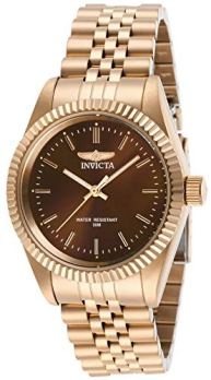 Invicta Women's Specialty Quartz Watch with Stainless Steel Strap, Rose Gold, 18 (Model: 29416)