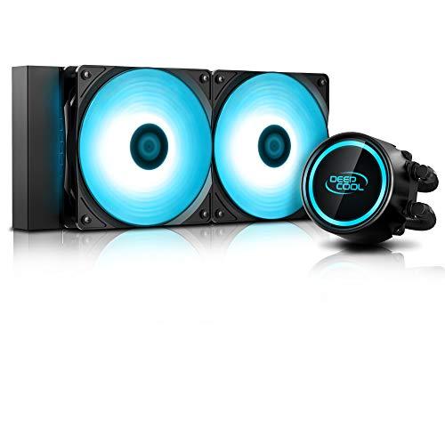 DeepCool Gammaxx L240 RGB V2 Sistema di Raffreddamento Anti-Leak Radiatore da 240mm Dissipatore a Liquido RGB 12V 4-Pin Compatibile Intel 115X/2066 e AMD AM4