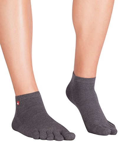 Knitido Track & Trail Ultralite Fresh Zehensocken-Sneaker Unisex, Größe:43-46, Farbe:Anthrazit