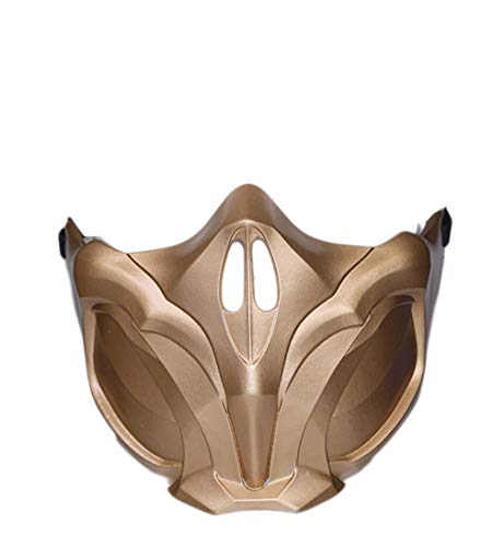 Evere Scorpion Masque Jeu MK 11 Cosplay Costume Résine Demi Visage Casque pour Adulte Homme Déguisement Vêtements Accessoires