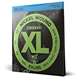 D'Addario EXL165 Cordes longues en Nickel pour Basse Custom Light, 45-105 Nickel