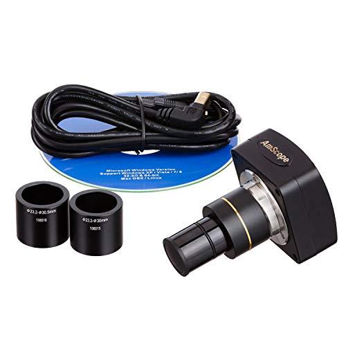 Amscope MU300 3 MP Mikroskopkamera Okularkamera OkularDigital Kamera , Mikroskop Video Standbild Einzelbild 40 fache Vergößerung 0,5 Verkleinerung C Mount mit Software