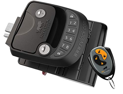 RVLock Key Fob and RH Compact Keyless Entry Keypad, RV/5th Wheel...