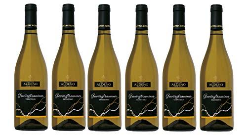 Confezione 6 bottiglie Gewurztraminer   Vino Bianco Trentino DOC   Cantina Aldeno - Athesim Flumen
