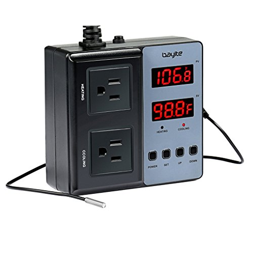 bayite Temperature Controller Pre-Wired, 2 Stage Heating and Cooling