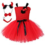 Tutu Dreams Devil Costume for Toddlers Girls Red Tutu Outfits Baby Halloween Dress Up