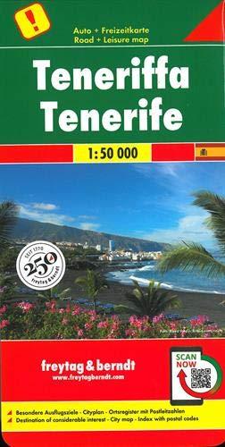 Tenerife, mapa de carreteras. Escala 1:50.000. Freytag & Berndt.: Toeristische wegenkaart 1:50 000 (