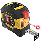 LEXIVON 2 in 1 Digital Laser Tape Measure | 130ft/40m Laser Distance Meter Display On Backlit LCD Screen with 16ft/5m AutoLock Measuring Tape | Ft/Inch/Fractions/M/mm(LX-201)