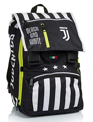 Zaino Estensibile Big Juventus, Best Match, Bianco e Nero, Scuola & Tempo Libero, con Orologio abbinato