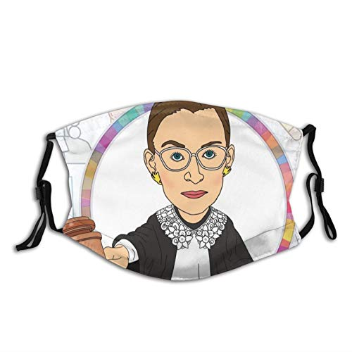 Ruth Bader Ginsburg Adjustable Windproof Ear Loops Washable Reusable for Men Women Teens...