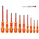 HEAVY DUTY VDE SCREWDRIVER SET: Gunpla versatile screwdrivers are made of high quality hardened tempered chrome vanadium steel for unlimited time use and enhanced durability. Our screwdriver tools are perfect for most projects requiring screw driving...