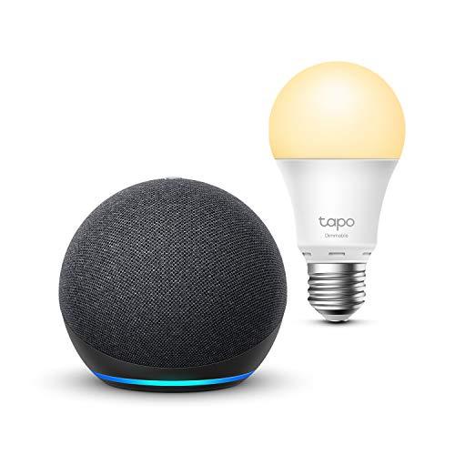 Echo Dot (4.ª generación), Antracita + TP-Link Tapo Bombilla...