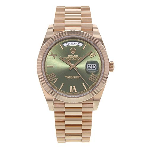 Rolex Day-Date 40 President Everose Gold Watch 228235 60th Anniversary Green Dial