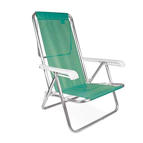 Cadeira Reclinável Mor 8 Posições Anis Alumínio