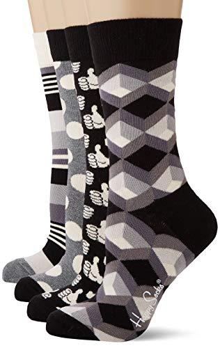 Happy Socks Black and White Gift Box, Calzini Donna, Multicolore (Multicolour 900), 36/40 IT