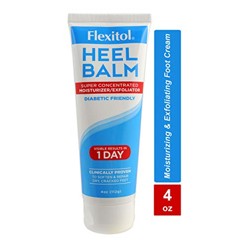 Flexitol Heel Balm, Rich Moisturizing & Exfoliating Foot Cream,4 Oz Tube