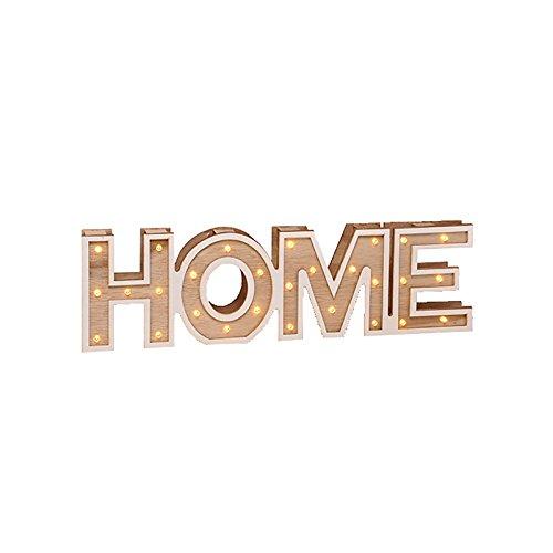 Leuchtschrift Wood LED illuminazione a caldo HOME or LOVE Dekolicht illuminazione, Design2016:HOME