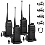 Radioddity GA-2S Long Range Walkie Talkies Two Way Radio Rechargeable with Micro USB Charging + Air...