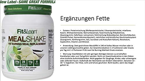 Fit & Lean Fat Burning Meal Replacement, Vanilla, 0.97 lb 7