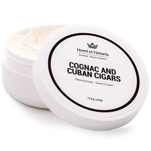 Shaving Soap For Men | Cognac and Cuban Cigars Shaving Cream Fragrance | Smooth Shave, Lathers Up...