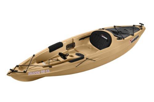 SUNDOLPHIN Sun Dolphin Journey Sit-on-top Fishing Kayak (Sand, 10-Feet)