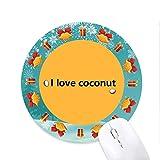 l'amour l'jus de noix de coco tapis de souris souris ronds cadeaux de noël