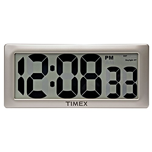 Timex 75071TA2 13.5' Large Digital Clock with 4' Digits and Intelli-Time Technology
