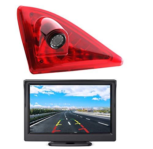 HD 720p Telecamera per la Retromarcia Retrocamera + Monitor 5.0 pollici per Nissan NV400 / Renault Master 3 / Opel Movano B 2010-2019, Telecamera Posteriore Impermeabile Visione Notturna