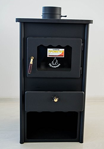 Poêle à bois Cheminée combustible solide en acier Top 8kW Prometey Métal Tableau 2
