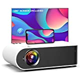 Mini Projector, GooDee W18 WiFi Movie Projector with Synchronize Smartphone Screen with 1080P...